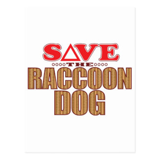 Raccoon Dog Save Postcard