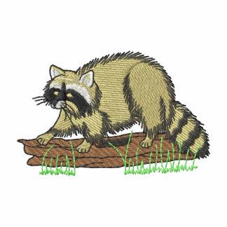 Raccoon Embroidered Fleece Track Jacket