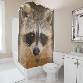Raccoon Face Shower Curtain
