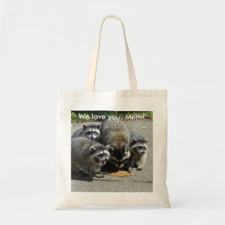 Raccoon Family Mother's Day Budget Tote Bag