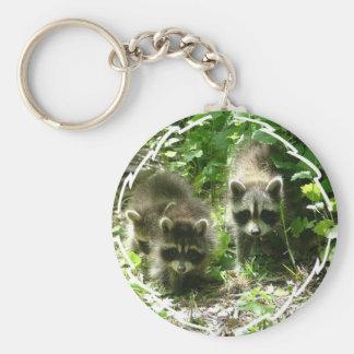 Raccoon Habitat Keychain