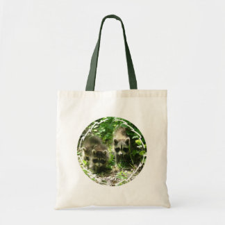 Raccoon Habitat Small Canvas Bag
