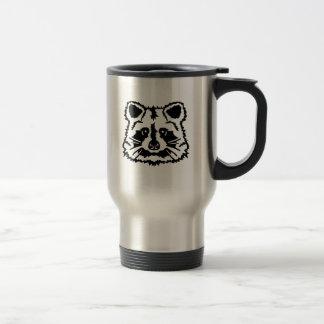 Raccoon head mug
