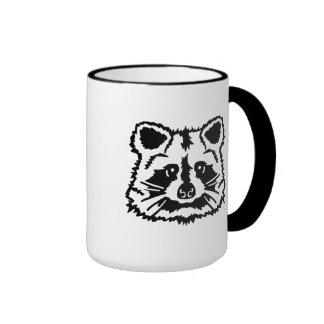 Raccoon head mugs
