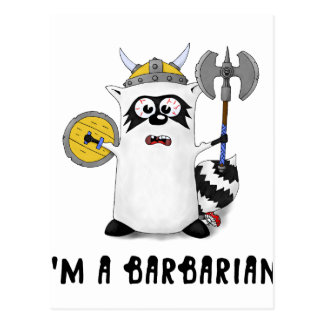Raccoon: I'm a Barbarian! Postcard