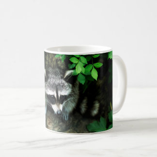 Raccoon In Forest Woods Nature Classic Coffee Mug