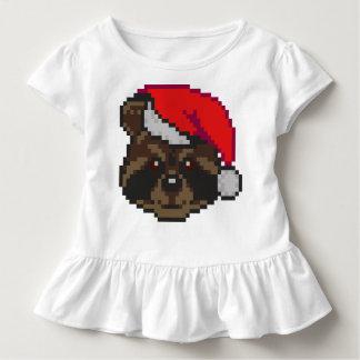 Raccoon In Santa Hat Toddler T-Shirt