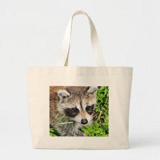 raccoon jumbo tote bag