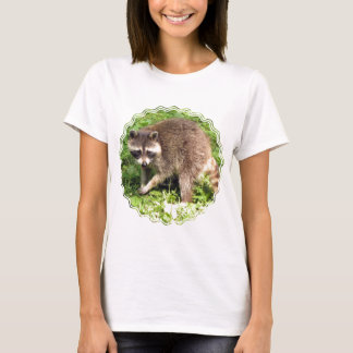 Raccoon Ladies Fitted T-Shirt