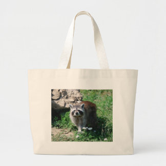 Raccoon Large Tote Bag