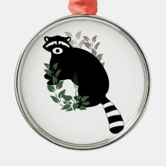 Raccoon Leaves Christmas Ornament