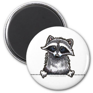 Raccoon Line Art Magnet