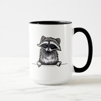 Raccoon Line Art Mug