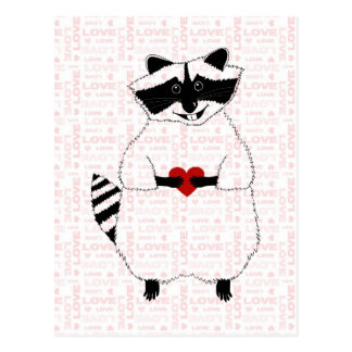 Raccoon Love Postcard