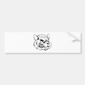 Raccoon mascot character bumper sticker