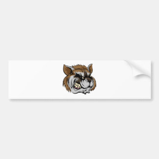 Raccoon mascot character bumper stickers