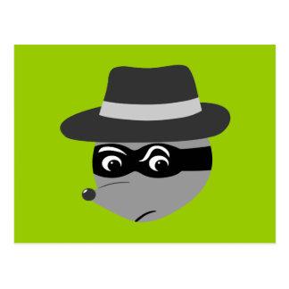 Raccoon Mobster Postcard