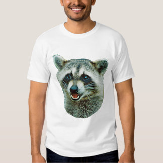 Raccoon Picture Ringer T-Shirt