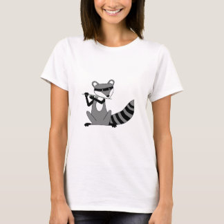 Raccoon Playing the Flute T-Shirt