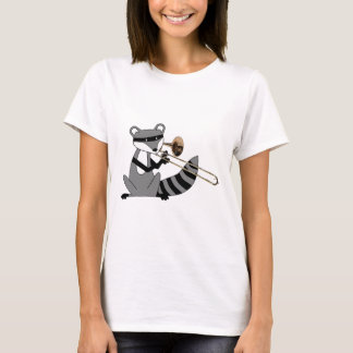 Raccoon Playing the Trombone T-Shirt