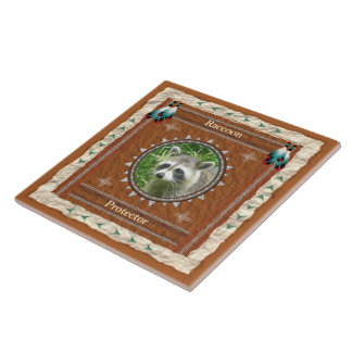 Raccoon  -Protector- Ceramic Tile