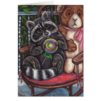 RACCOON Rocking Chair Note Card