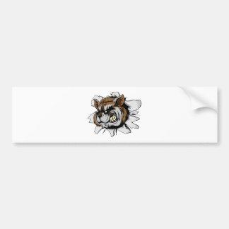 Raccoon sports mascot breakthrough bumper stickers