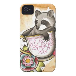 Raccoon Tea Party iPhone 4 Case