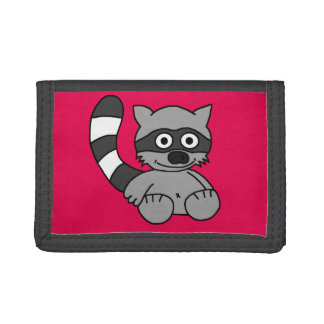 Raccoon Trifold Wallets