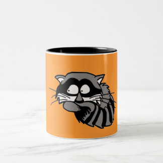 Raccoon Two-Tone Coffee Mug