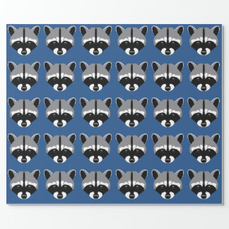 Raccoon with Sad Eyes Wrapping Paper