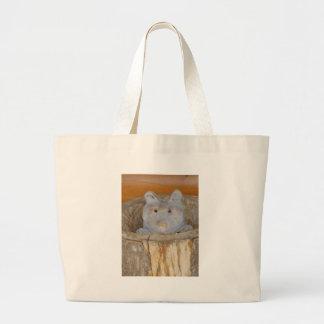 raccoon woodwork canvas bags