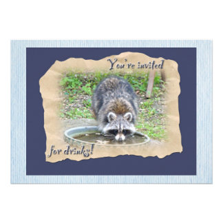 Raccoon - You re Invited for Drinks Invite