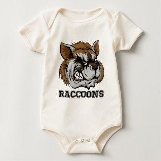 Raccoons Mascot Baby Bodysuit