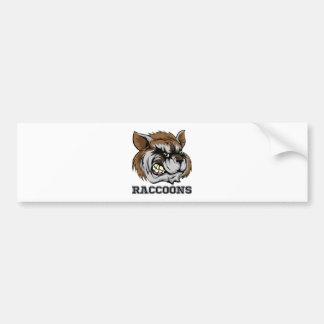 Raccoons Mascot Bumper Sticker