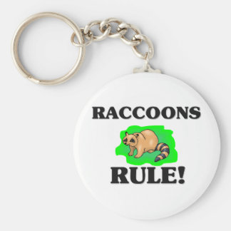 RACCOONS Rule! Basic Round Button Key Ring