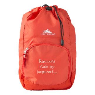 Raccoons Stole My Homework Backpack