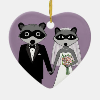 Raccoons Wedding Keepsake Christmas Ornament