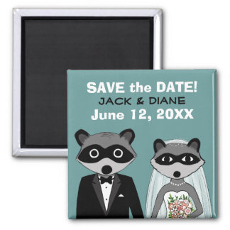 Raccoons Wedding Save the Date Magnet