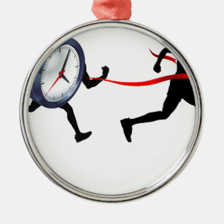 Race Against Time Christmas Ornament