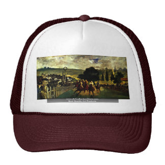 Race At Longchamp By Manet Edouard Trucker Hat