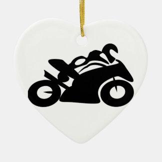 Race Biker Tribal Art PS Speed Racing Ornaments