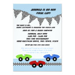 Race Car Baby Shower 13 Cm X 18 Cm Invitation Card