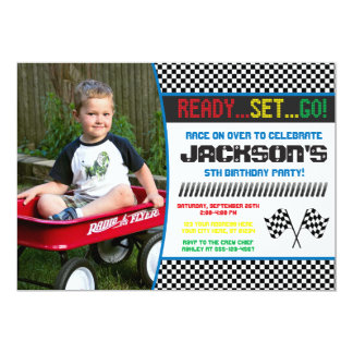 Race Car Birthday Invitation | Racing Invitation
