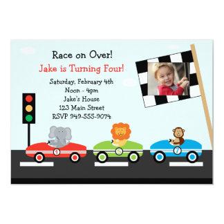 Race Car Birthday Party Invitation