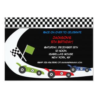 "Race Car  Birthday Party Invitations 5"" X 7"" Invitation Card"
