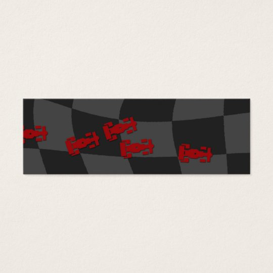 Race Car Bookmark Mini Business Card