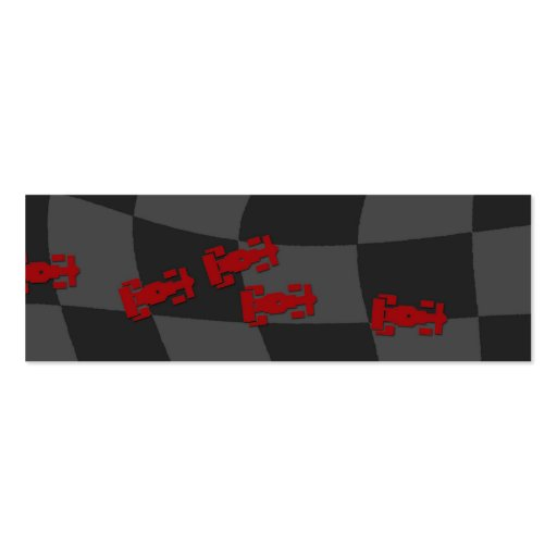 Race Car Bookmark Pack Of Skinny Business Cards