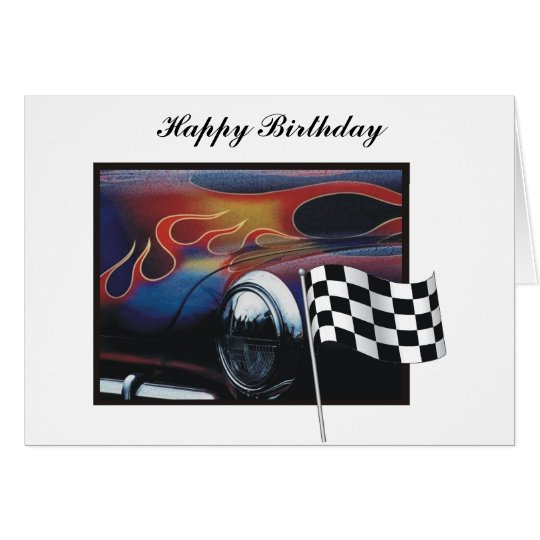 Race car card