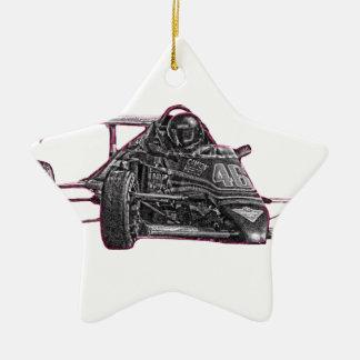 Race Car Ceramic Star Decoration
